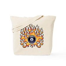 Flaming 8 Tote Bag