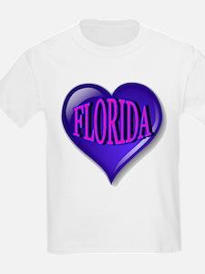 FLORIDA Blue Diamond Heart T-Shirt