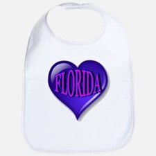 FLORIDA Blue Diamond Heart Bib