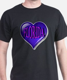 FLORIDA Blue Diamond Heart T-Shirt