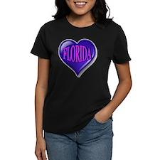 FLORIDA Blue Diamond Heart Tee