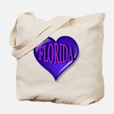 FLORIDA Blue Diamond Heart Tote Bag