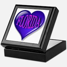 FLORIDA Blue Diamond Heart Keepsake Box