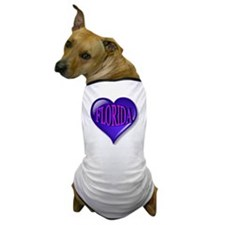 FLORIDA Blue Diamond Heart Dog T-Shirt