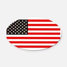 4th of July Old Glory Story Americ Oval Car Magnet