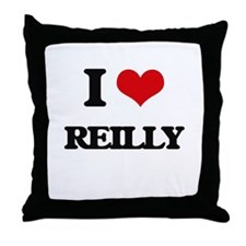 I Love Reilly Throw Pillow