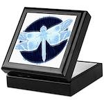 Crystal Blue Dragonfly Keepsake Box