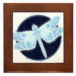 Crystal Blue Dragonfly Framed Tile