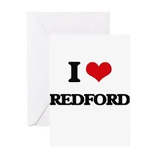 I Love Redford Greeting Cards