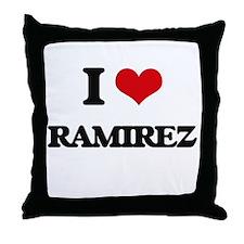 I Love Ramirez Throw Pillow