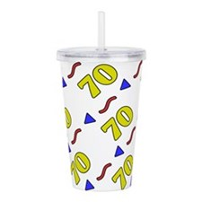 70th Birthday Celebrat Acrylic Double-wall Tumbler