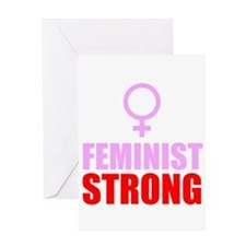 Feminist Strong Greeting Cards