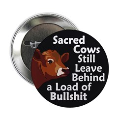 Sacred Cows & Bullshit Button (100 pack)