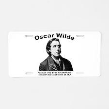 Wilde: Think Aluminum License Plate