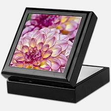 Beautiful pink dahlia flowers Keepsake Box
