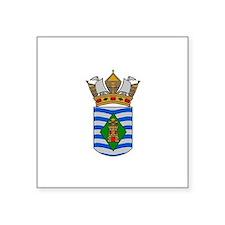 "Funny Vieques puerto rico Square Sticker 3"" x 3"""