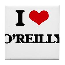 I Love O'Reilly Tile Coaster