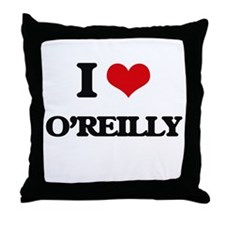 I Love O'Reilly Throw Pillow