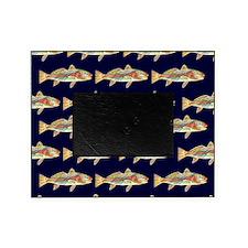redfish dark blue pattern Picture Frame