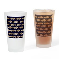 redfish dark blue pattern Drinking Glass