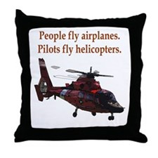 Pilots fly helis Throw Pillow