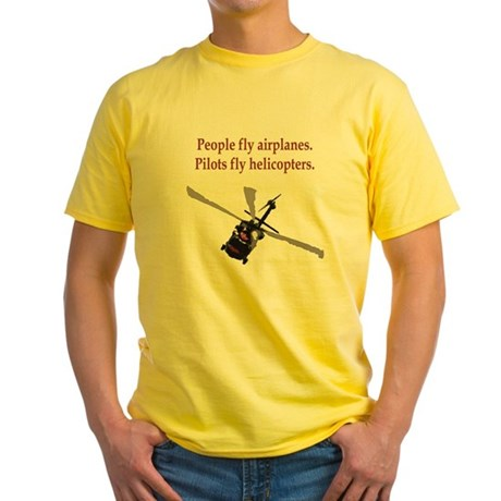 Helicopter Pilots Yellow T-Shirt