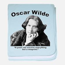 Wilde: Poet baby blanket