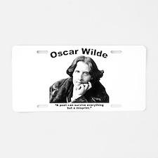 Wilde: Poet Aluminum License Plate