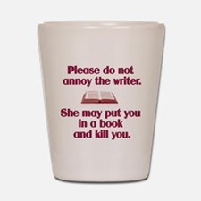 Funny Author Shot Glass