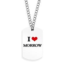 I Love Morrow Dog Tags
