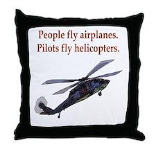 Heli pilots HH-60 Throw Pillow