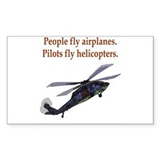 Heli pilots HH-60 Rectangle Decal
