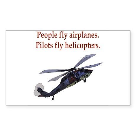 Heli pilots HH-60 Rectangle Sticker