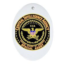 CIA CIA CIA Oval Ornament