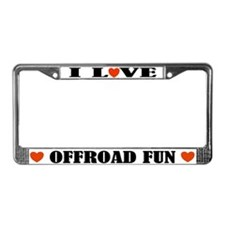 I Love Offroading License Plate Frame