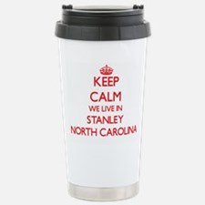 Keep calm we live in St Stainless Steel Travel Mug