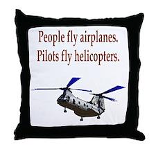 Heli pilots - CH-46 Throw Pillow