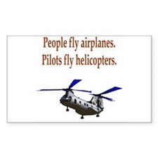Heli pilots - CH-46 Rectangle Decal