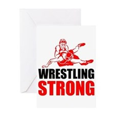 Wrestling Strong Greeting Cards