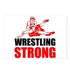 Wrestling Strong Postcards (Package of 8)
