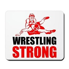 Wrestling Strong Mousepad