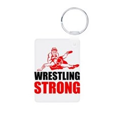 Wrestling Strong Keychains