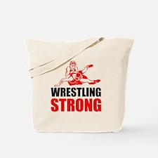 Wrestling Strong Tote Bag