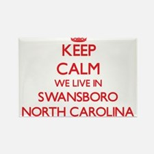 Keep calm we live in Swansboro North Carol Magnets