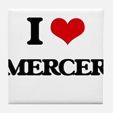 I Love Mercer Tile Coaster