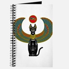 Ornate Eqyptian Cat Godess Journal