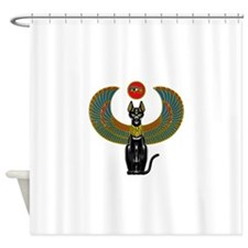 Ornate Eqyptian Cat Godess Shower Curtain