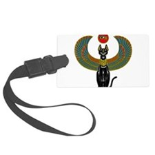 Ornate Eqyptian Cat Godess Luggage Tag