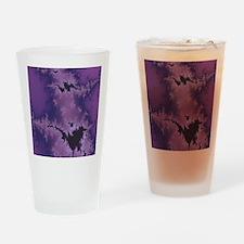 Purple Explosion Drinking Glass