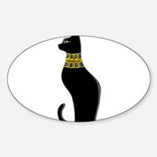 Black Eqyptian Cat with Gold Jeweled Colla Decal